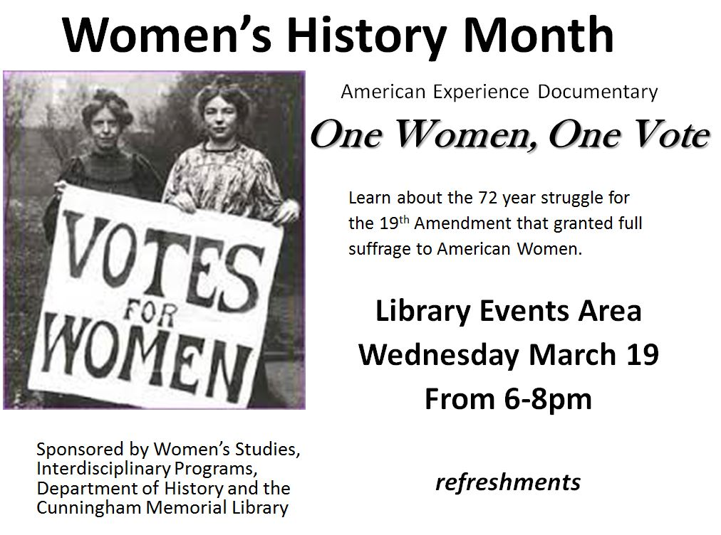 one woman one vote One woman, one vote – a documentary film about the campaign for women's  right to vote in the us – was shown on us television (pbs) in.