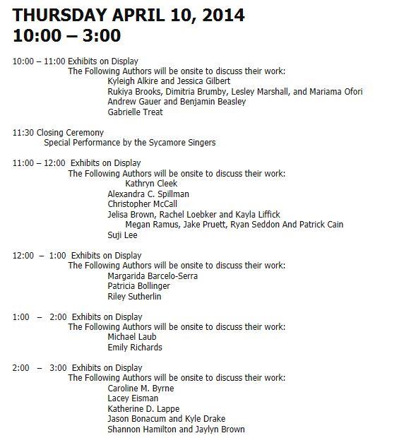 2014 Exposium Schedule - Thursday