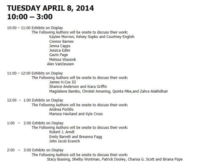 2014 Exposium - Tuesday schedule