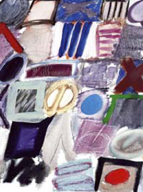 Ida Kohlmeyer (American, 1912-1997), Cluster I-95, 1976, Oil and pastel on canvas, Purchase 1997