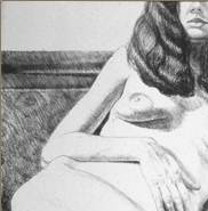 Philip Pearlstein (American, born 1924), Girl on Empire Sofa, 1972, Lithograph, Purchase 1972