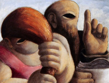 Julio de Diego (American, 1900-1979), Demagogue, 1938, Oil on masonite, Courtesy of the Fine Arts Program, Public Buildings Service, U.S. General Services Administration; Commissioned through the New Deal art projects