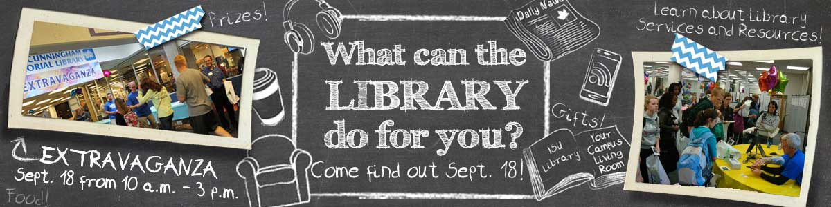 Library Extravaganza -- September, 18 2014